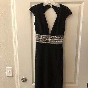 Black Formal Evening Gown Sz 2